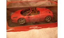 модель 1/18 Ferrari 458 Spider Mattel/Hot Wheels металл 1:18