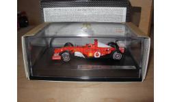 модель 1/43 F1 Formula/Формула-1 Ferrari F2002 #1 2002 World Champion M. Schumacher Mattel/Hot Wheels металл 1:43