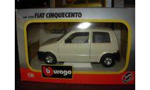 модель 1/24 Fiat Cinquecento Burago Made in ITALY металл 1:24, масштабная модель