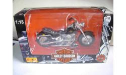1/18 модель мотоцикл Harley Davidson FLSTF Fat Boy Maisto металл 1:18, масштабная модель мотоцикла, Harley-Davidson