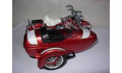 1/15 модель мотоцикл Harley Davidson MS 642 Electra Glide Classic с коляской Polistil металл