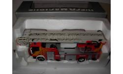 модель 1/43 пожарный Iveco Magirus DK 23-12 CS 4х-коленная выдвижная лестница Eligor металл пожарная серебристая коробка 1:43