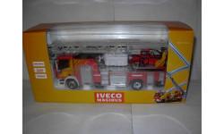 модель 1/43 пожарный Iveco Magirus DK 23-12 CS 4х-коленная выдвижная лестница Eligor металл пожарная 1:43