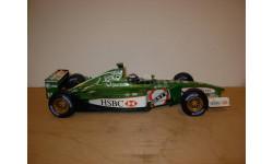 модель F1 Формула 1 1/18 Jaguar R2 2001 #18 Eddie Irvine Hot Wheels / Mattel металл 1:18