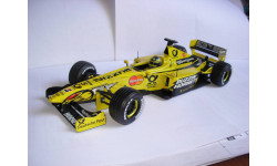 модель F1 Формула 1 1/18 Jordan Mugen Honda EJ10 2000 #5 Frentzen Mattel/Hot Wheels металл 1:18, масштабная модель, Mattel Hot Wheels