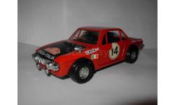 модель 1/25 Lancia Fulvia 1600 HF Rally Monte-Carlo Rallie Ралли Politoys металл 1:25, масштабная модель, 1:24, 1/24