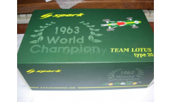 1/18 модель F1 Формулы 1- чемпионский(!) Lotus 25 1963 #8 Jim Clark  World Champion Spark смола