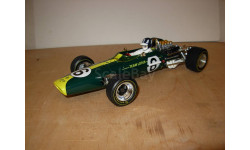 гоночная модель формула-1 F1 1/18 Lotus Type 49 1968 #6 Graham Hill Quartzo металл 1:18, масштабная модель, scale18
