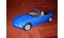 модель 1/18 Mazda MX5 Miata первого поколения 1989 Gate/ранний Autoart металл 1:18