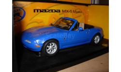 модель 1/18 Mazda MX5 Miata первого поколения 1989 Gate /ранний Autoart металл 1:18 box, масштабная модель, scale18