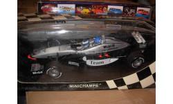 модель F1 Формула-1 1/18 McLaren MP4-98T 2000 Twin Seater 2-х местный,  Mika & Erja Hakkinen Minichamps/ Paul's Model Art металл 1:18 Mercedes-Benz Мерседес Mercedes Benz