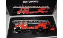 модель  1/43 пожарная автолестница MB Mercedes-Benz 1113 1966 Minichamps 439031070 металл 1:43 Mercedes Benz Мерседес, масштабная модель, scale43