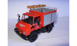 модель 1/43 MB Mercedes Benz Unimog 406 пожарный Schuco металл безх коробки