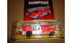модель  1/43 пожарная автолестница Mercedes-Benz L1519 Ixo металл 1:43 пожарный Mercedes-Benz Мерседес