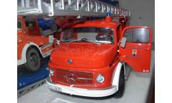 модель 1/18 пожарный лестница Mercedes Benz MB L322 пожарная 'Münnerstadt' Schuco металл 1:18 Mercedes-Benz Мерседес