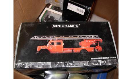 модель пожарная автолестница 1/43 Magirus Deutz Merkur 150DL30 Minichamps  металл, масштабная модель, 1:43, Magirus-Deutz