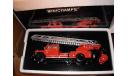 модель пожарной автолестницы 1/43 Mercedes LOD 3750 DL26 Minichamps  металл