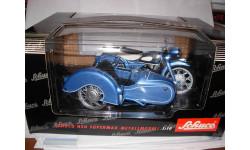 1/10 модель мотоцикл NSU SuperMAX с коляской Schuco металл, масштабная модель мотоцикла, scale10