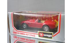 модель 1/24 Ford AC COBRA 427 1965 Burago Made in ITALY металл