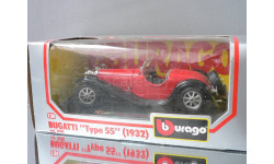 модель 1/24 BUGAТТI TYPE 55 1932 Burago Made in ITALY металл