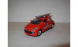 модель  1/43 пожарый Peugeot Electrical Proto H2O электромобиль концепт DelPrado металл 1:43, масштабная модель, Del Prado, scale43