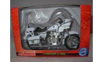 1/18 модель полицейский мотоцикл Police Patrol 1000 Schuco Junior Line металл 1:18 XR 400 R, масштабная модель мотоцикла, scale18