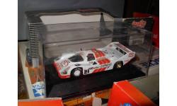 гоночная модель 1/43 Porsche 956 Short Tail Brun Faturbo 1000km Spa 1986 19 Le Mans Quartzo металл 1:43, масштабная модель