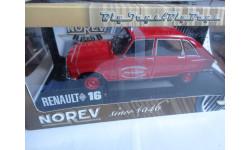 модель 1/18 Renault 16 пожарный Pont du Chateau Norev металл 1:18, масштабная модель