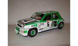 модель 1/18 Renault 5 Turbo GRB 1985 Rally de Lozere #6 Alain Serpaggi Yves Le Gall Solido металл 1:18