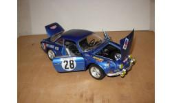 модель 1/18 Renault Alpine A110 1800 #28 Monte Carlo Rally 1971 Ove Andersson David Stone Burago металл 1:18