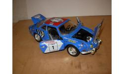 модель 1/18 Renault Alpine A110 1800 Tour de Corse 1 1973 Burago металл 1:18