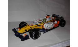 модель F1 формула-1 1/18 Renault ING R27 2007 #3 Giancarlo Fisichella Mattel Hot Wheels металл 1:18, масштабная модель