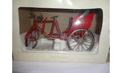 модель 1/10 велосипед рикша металл 1:10, масштабная модель мотоцикла