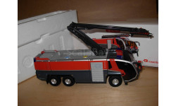 1/43 модель аэродромный пожарный автомобиль с водяной башней Panther FLF 6x6 Rosenbauer Wiking металл пожарная 1:43