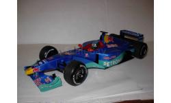 модель F1 Формула 1 1/18 Sauber Red Bull Petronas C18 1999 #11 Jean Alesi Minichamps / Paul's Model Art металл 1:18