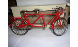 модель 1/10 велосипед тандем /tandem металл 1:10, масштабная модель мотоцикла