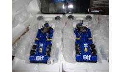набор из 2х моделей F1 Формулы-1 1/18 Tyrrell P34 1-2 места GP Sweden'76 True Scale Miniatures металл