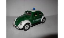 модель 1/40 VW Volkswagen Beetle Polizei Жук полиция металл 1:40