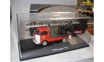 модель 1/43 пожарный Volkswagen VW T2a автолестница Schuco металл 1:43, масштабная модель, scale43