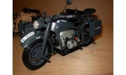 1/10 модель мотоцикл Zündapp KS 750 военный с коляской Schuco металл 1:10, масштабная модель мотоцикла