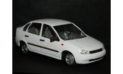 ВАЗ-1118  Lada Kalina (Лада Калина) - белый - седан 1/43, масштабная модель, ALPA models, scale43