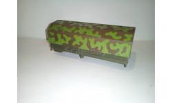Кузов с тентом от камаз-4310 камуфляж 1/43, запчасти для масштабных моделей, Элекон, 1:43