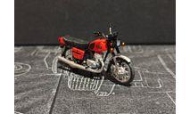 Иж 'Планета 5' мотоцикл - поздний красный/хром крылья - 1/43, масштабная модель мотоцикла, Юный коллекционер ( +доработка), 1:43
