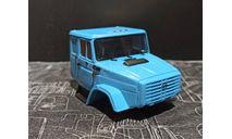 Кабина ЗИЛ-4331 со спальником- окрашенная и собранная - голубая 1/43, масштабная модель, ALPA models, scale43
