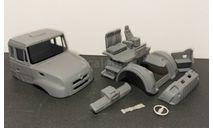 Кабина Миасский грузовик-4320-59 дневная - неокрашенная 1/43, масштабная модель, УРАЛ, ALPA models, scale43