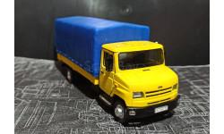 ЗИЛ-5301 (4362) бортовой с тентом - жёлтый/синий 1/43