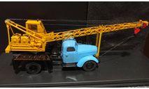 ЗИЛ-164 автокран АК-75- голубой/желтый 1:43, масштабная модель, Start Scale Models (SSM), 1/43