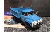 ЗиЛ-ММЗ-4502 самосвал - голубой №2 с журналом 1:43, масштабная модель, Легендарные грузовики, scale43