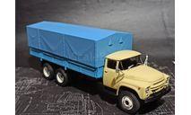 ЗиЛ-133Г1 бортовой с тентом - песочный/синий - №28 с журналом 1:43, масштабная модель, Легендарные грузовики, scale43