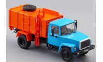 ГАЗ-3307 КО-413 мусоровоз - синий/оранжевый - №54 с журналом 1:43, масштабная модель, Автолегенды СССР журнал от DeAgostini, scale43